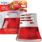 Bright Air Scented Oil - Air freshener - liquid - pot - 2.5 fl.oz - cinnamon, macintosh apple