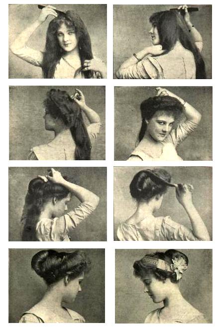 Downton Abbey Frisur 1910er Psyche Knoten Retrochicks
