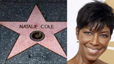 Find Natalie Cole's star on the Hollywood Walk of Fame