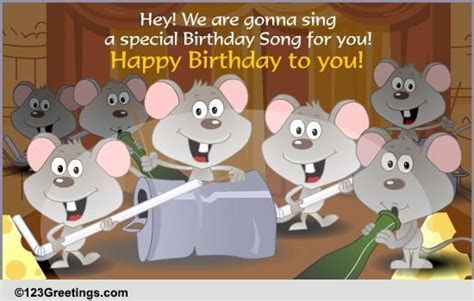 A Special Birthday Song! Free Songs eCards, Greeting Cards
