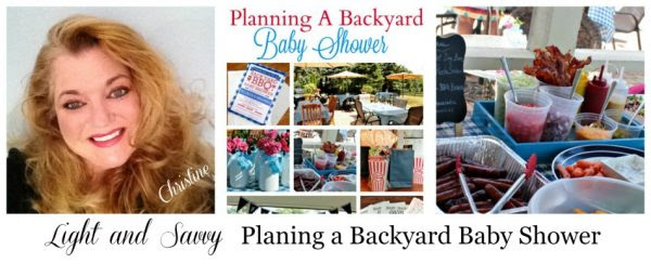 Light and Savvy Planing a Backyard Baby Shower