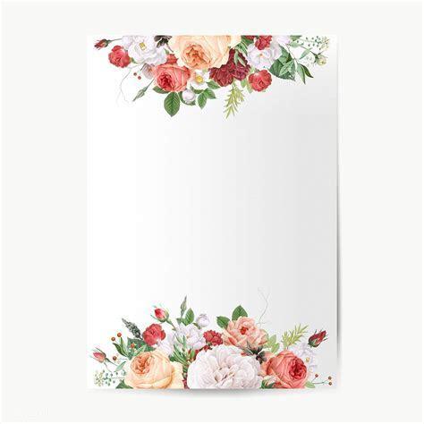 Floral design wedding invitation mockup   Royalty free