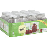 Ball Mason Jars, Quart, Regular Mouth - 12 (32 oz) jars