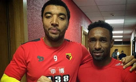 Troy Deeney presents Christmas card signed by Watford
