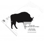 Buffalo Silhouette Yard Art Woodworking Pattern - fee plans from WoodworkersWorkshop® Online Store - bison,buffalo,animals,wildlife,silhouettes,yard art,yard art,painting wood crafts,scrollsawing patterns,drawings,plywood,plywoodworking plans,woodworkers projects,workshop blueprints