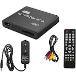 Wuuynn Mini HD 1080P Media Player BOX USB Media Box With HDMI AV MMC MKV AVI MOV MP4