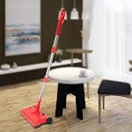 USB Charging Multifunctional Smart Floor Handheld Vacuum Cleaner Household Sweeping Machine Red