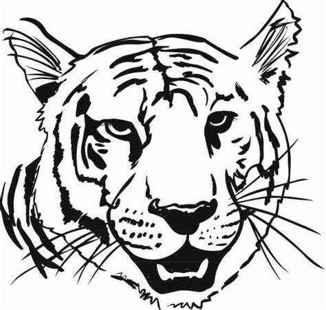 coloring animal heads tiger head coloring page