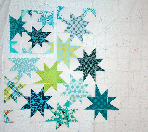 FLiQS mini wonky stars progress