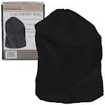 Trademark Heavy Duty Jumbo Sized Nylon Laundry Bag - Black