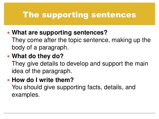 how to write topic sentences for essays