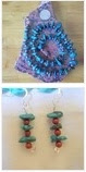 multiple photos of lampwork necklace