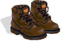 a pair of walking boots