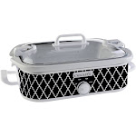 Crock-Pot SCCPCCM350-BW Slow Cooker - 3.5 qt - Black & White pattern