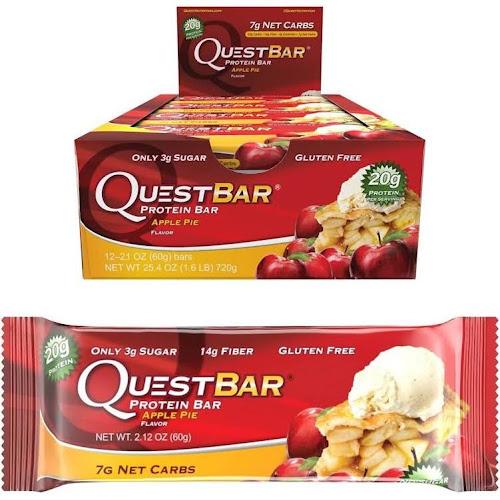 QuestBar Protein Bar, Apple Pie - 12 Pack, 2.12 oz each