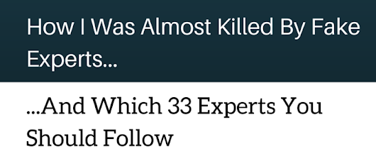 Experts You Should Follow