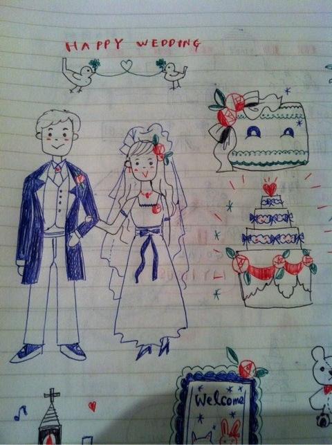 結婚式 イラスト ボールペン