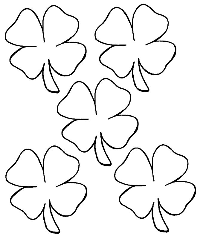 Free Printable Shamrock Coloring Pages For Kids Coloring Pages