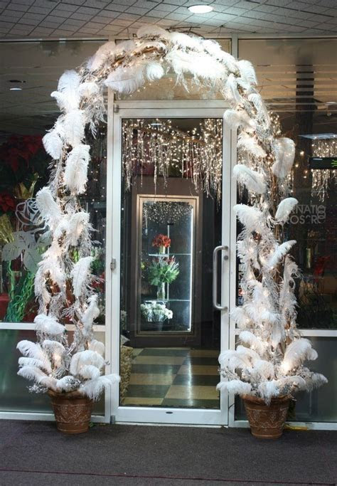 Winter White Feather Arch   CHRISTMAS   Flowers & Floral