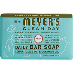 Mrs Meyers Clean Day Soap, Daily Bar, Basil Scent - 5.3 oz