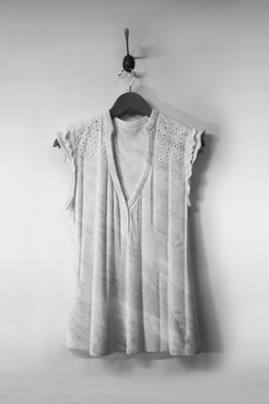 Airy Dresses Carved From Marble by Alasdair Thomson | Colossal