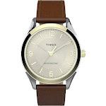 Timex Men's Tan Leather-Strap Watch