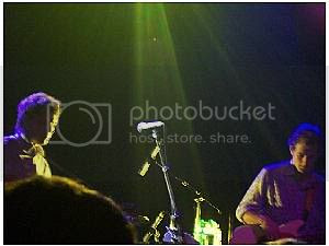 Jeff Tweedy and John Stirrat of Wilco at The Mod Club Theatre(Toronto, Ontario), August 3, 2004: photo by me, Mike Ligon, one of my few pics that came out half way decent...