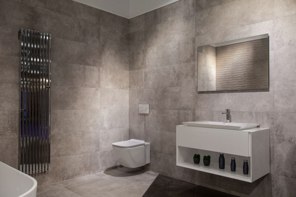 Grey bathroom design from Ideagroup