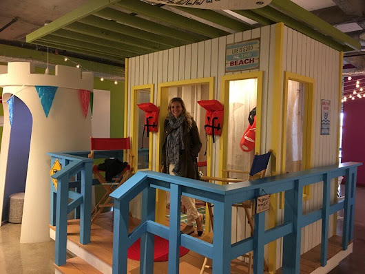 Search in Pics: Indoor lifeguard tower, tractor & wall art
