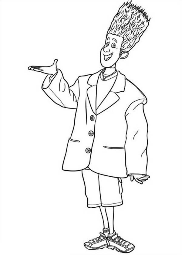 Introducing Jonathan from Hotel Transylvania Coloring Pages 600x840