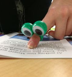 Dollar Store Treasures and Finds!! Perfect eyeball finger trackers for beginning readers! Other great dollar finds for your classroom!