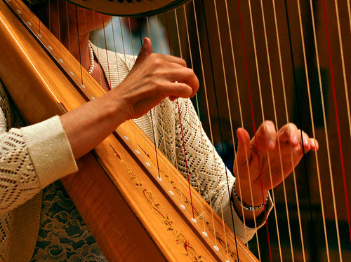 Hands of a harpist