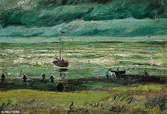 View of the Sea at Scheveningen (pictured) was one of two oil painting by Vincent Van Gogh worth millions of dollars which was snatched by thieves on December 7, 2002