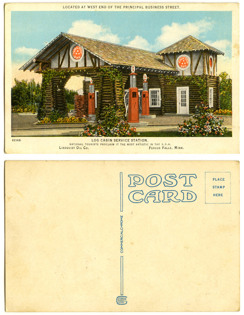 Log Cabin service station_tatteredandlost