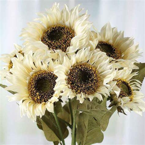 Vanilla Artificial Sunflower Bush   Fall Florals   Floral