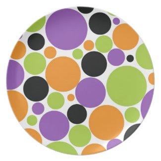 Halloween Polka Dots Plate