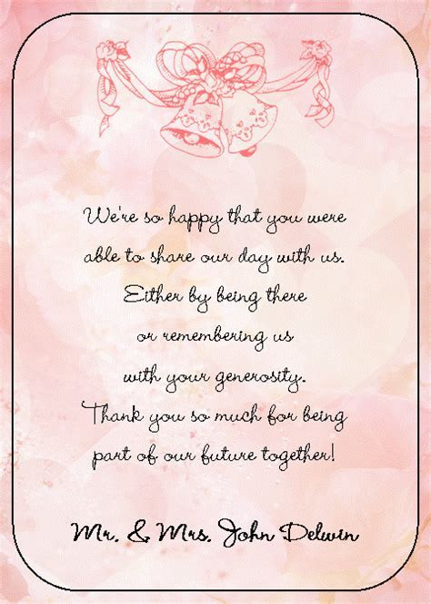 thank you cards wedding wording   Google Search   thank