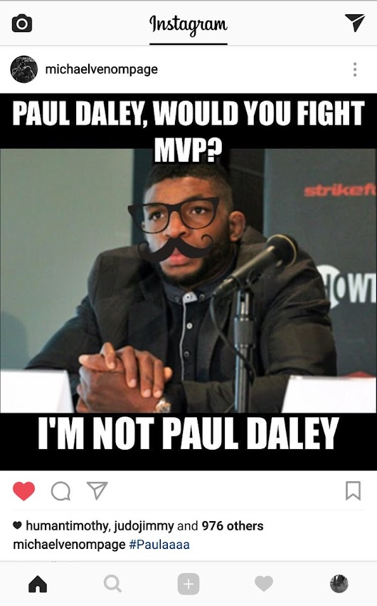 "Courtney on Twitter: ""Bwah ha ha ha ha @Michaelpage247 firing some big shots 😂😂😂😂 #Bellator #BellatorLondon #MMA """