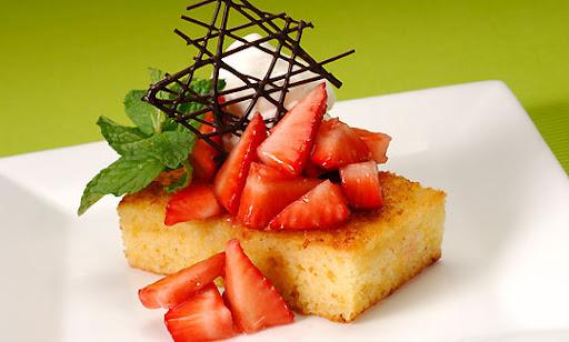 Disney Recipe Strawberry Shortcake with Lemon Cornbread