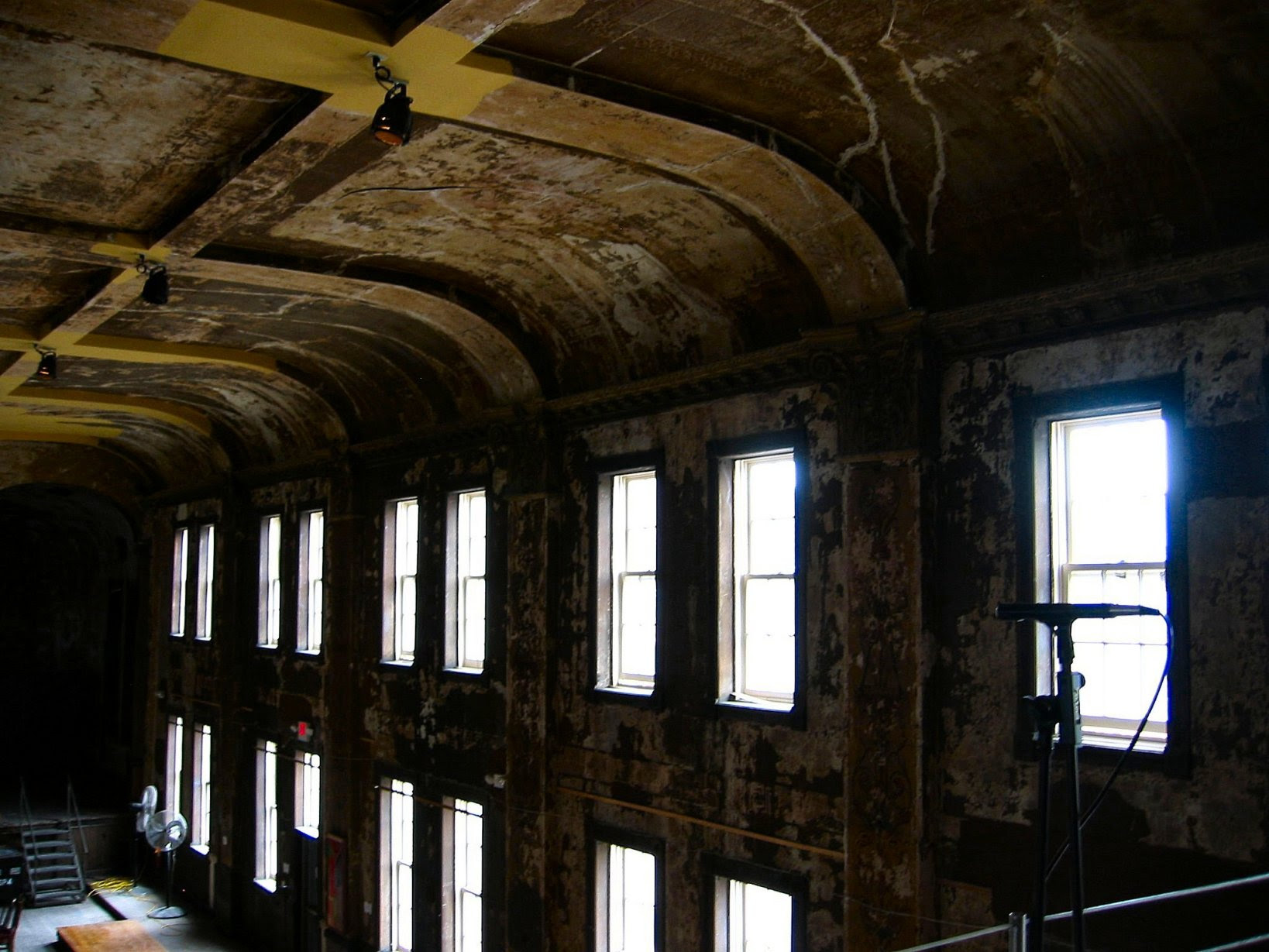 Turner Hall restoration - Milwaukee - the wall of windows that face downtown - soul-amp.com