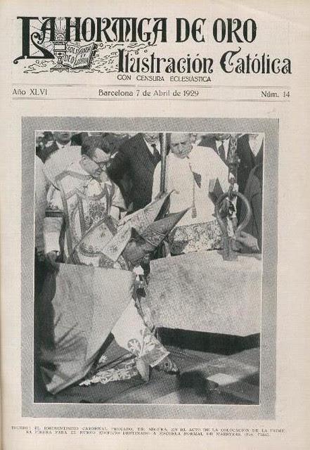 Colocación de la primera piedra de la Escuela Normal de Magisterio de la Vega el 24 de marzo de 1929 publicada el 7 de abril en La Hormiga de Oro