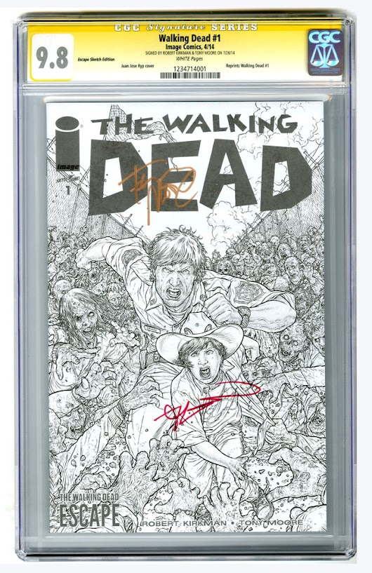Win a Walking Dead #1 Escape Sketch Edition signed by Robert Kirkman and Tony Moore