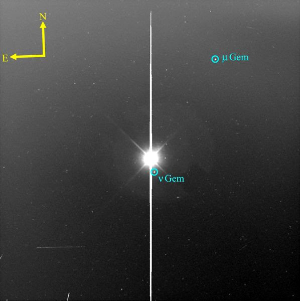 An image of asteroid Ryugu that was taken from a distance of 1,500 kilometers...by JAXA's Hayabusa 2 spacecraft on June 10, 2018 (Japan Time).