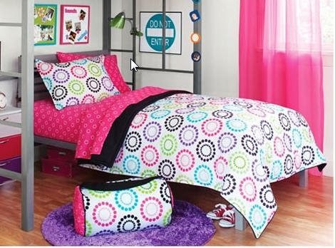 Best Buy Black Amp Pink Polka Dots Teen Full Comforter Set