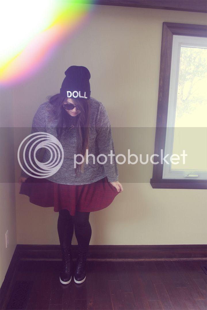 Plus Size Fashion, Plus Size Blogger, Toronto Blogger, PSBLOGGER, Plus Size, Domino Dollhouse, Forever21+, Jessica Ip, Fashion, Toronto Canada, New Look, Plus Size Beanie, Plus Size Skater Skirt, Doll