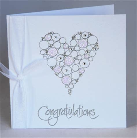 A handmade wedding congratulations card   Handmade by Helen