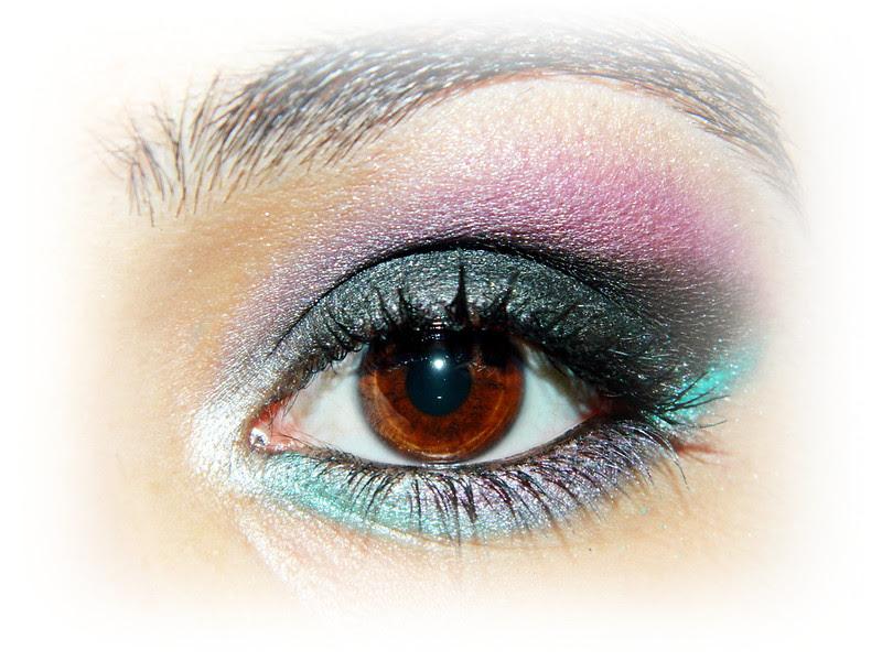 Juliana Leite make up maquiagem roxa preta verde degrade concavo 005