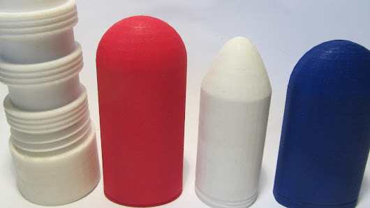 Smooth 3d printed vibrator form for silicone molding