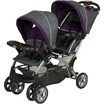 Baby Trend Sit N' Stand Easy Fold Travel Toddler & Baby Double Stroller, Elixer by VM Express