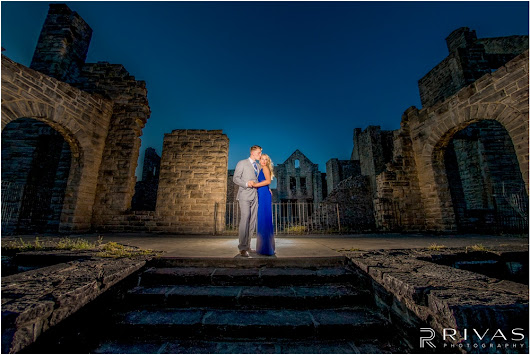 Kacie & Ben's Romantic Castle Ruins Engagement Session - Rivas Photography